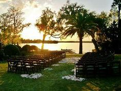 wedding ceremony on lake maitland at the winter park racquet club musician orlando