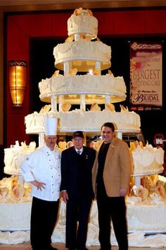 Wow!!!!!!!!! Another view (size perspective) of The largest wedding cake (Guinness World Records)
