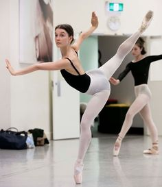 The Australian Ballet's Benedicte Bemet rehearsing Forsythe's In the Middle, Somewhat Elevated | Photo © Lynette Wills