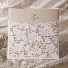 100KITS Romantic Lace Pocket Wedding Invitations 100 Envelopes 100 Seals Sets | eBay
