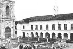 Foto antigua de una iglesia en cuenca
