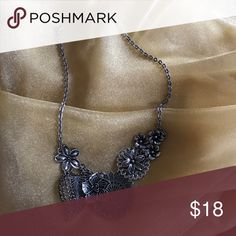 Premier Designs Botanical necklace This design is contemporary with a vintage feel. Dark silver tone flowers adorn this 16 inch necklace with a 3 inch extender to wear it how YOU like it! Premier Designs Jewelry Necklaces