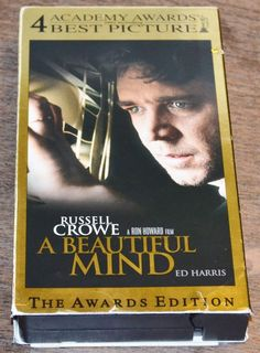 A Beautiful Mind VHS 2002 Awards Edition Russell Crowe Ed Harris Jennifer Connel