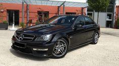 Mercedes-Benz C 63 AMG | Black | 2013 | #rent #german #luxury #sports #sedan #car #cars #auto #germany