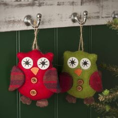 felt owl christmas tree decoration by the contemporary home | notonthehighstreet.com