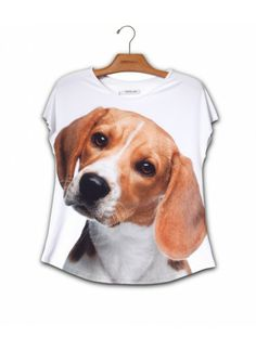 Camiseta Evasê Beagle www.patinhasdegrife.com.br