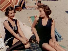 swimsuites from Belles on their Toes Cutest ever! Cheaper By The Dozen, Jeanne Crain, Turner Classic Movies, Sr1, White Apron, Photo Hosting, Old Movies, More Photos, Golden Age