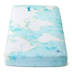 You've always wanted to travel the world — now baby can without ever leaving their crib with this Light Blue World Map Fitted Crib Sheet from Cloud Island™. They'll be dreaming of all the fun new adventures they will go on each night when bedtime comes. They can visit each continent, trek through the mountains and swim through the seas as soon as their little eyes shift to sleep. Pair this with other items from the Adventure Awaits collection from Cloud Island&#...