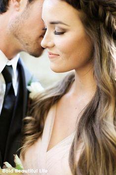 Bridesmaid crown braid hairstyle! Bridal hairstyles, wedding hairstyles, half up hairstyles!