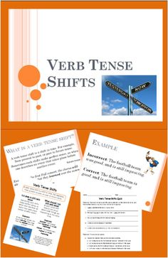 PowerPoint, Notes, & Quiz for teaching Verb Tense Shifts (Common Core 5th Grade)