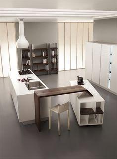 Kitchen with island by TONCELLI CUCINE #kitchen #minimal