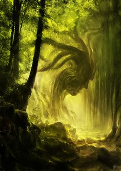 valkyriethais:    the greenman by CyrilBarreaux | Shadowness on We Heart It. http://weheartit.com/entry/33616257