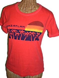 6e1ad06038e Groovy Vintage 70s MAZATLAN Baby Doll T Shirt