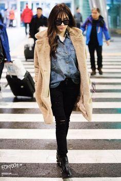 [151203] Tiffany at Incheon airport arrival from Hong Kong