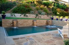 Are You Ready To Turn Your Backyard Into Something Extraordinary? Sloped Yard, Sloped Backyard, Small Backyard Pools, Backyard Pool Landscaping, Backyard Water Feature, Backyard Pool Designs, Swimming Pools Backyard, Swimming Pool Designs, Garden Pool