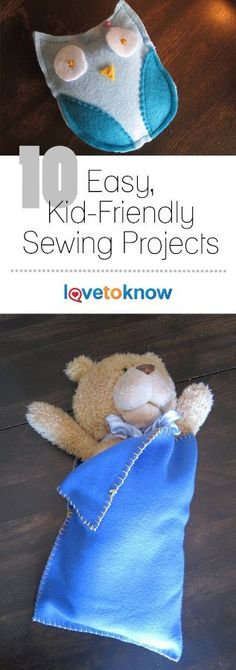 10 Easy, KidFriendly Sewing Projects is part of Hand Sewing crafts - There are lots of great sewing projects, but very few of them are designed especially for kids These ten easy projects are perfect for kids of all ages Easy Kids Sewing Projects, Sewing Projects For Beginners, Sewing For Kids, Easy Projects, Sewing Hacks, Sewing Tutorials, Sewing Crafts, Sewing Tips, Sewing Ideas