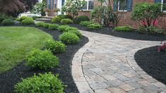 front walkway ideas - like the pattern with the border