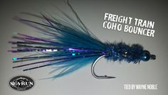 A must for Fall Coho fly fishing, whether you are single handing or switching it up! This tough little blue beauty will cause a rumble on the river with every cast.