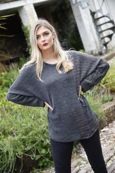 Grey long jumper sweater