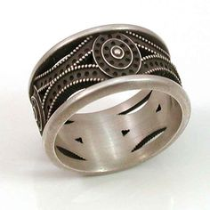 Mens Sterling Silver Band