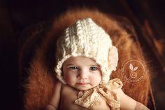 Newborn Bonnet  Pretty Twists Vintage line  FLOWERS by Knitbysarah, $23.00