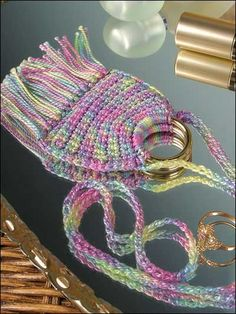 """Crochet - Mini Purselette (Could use to wrap small gifts) - 2 1/4""""x2 1/4"""" - size 5 Cotton Crochet Thread"""