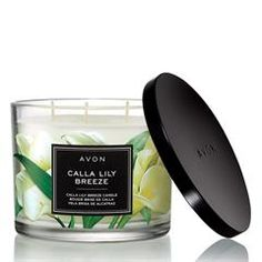 Enjoy the sweet scents of AVON's Calla Lily Breeze candle. This candle will fill your home with its delicious and welcoming scent shop our range now. Avon Catalog, Catalog Online, Avon Brochure, Fall Candles, Home Scents, New Fragrances, Free Makeup, Body Spray, Calla Lily