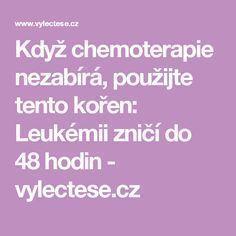 Když chemoterapie nezabírá, použijte tento kořen: Leukémii zničí do 48 hodin - vylectese.cz