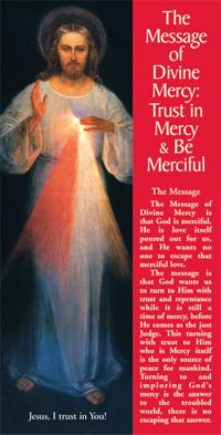 Message of Divine Mercy - Begins today, we can start praying the chaplet/novena  until Divine Mercy Sunday.