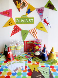 Sesame Street Party Pack Customized by 11cupcakes on Etsy
