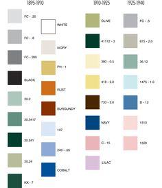 Colors for Unglazed Historical Tiles. American Restoration Tile ::. Manufacturer of Custom Historical Tile