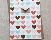 I Love You Tiny Envelopes Card with Custom by LemonDropPapers