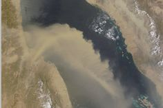 Dust Plume Over the Red Sea : Image of the Day : NASA Earth Observatory