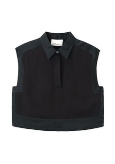 3.1 Phillip Lim Cropped Collared Top