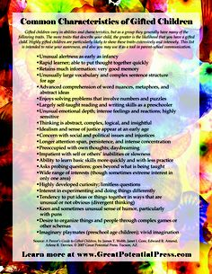 What are some common gifted characteristics?