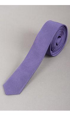 Cravate Slim Purple Tréssée Ton sur Ton