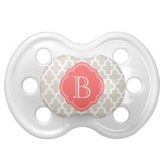 Monogrammed paci! This website has the cutest monogrammed things