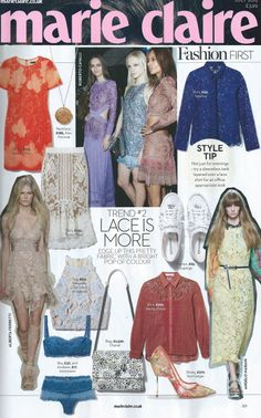 Marie Claire Magazine featuring the Ace of Lace Skirt