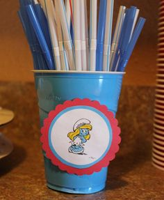 smurf birthday party - who could resist
