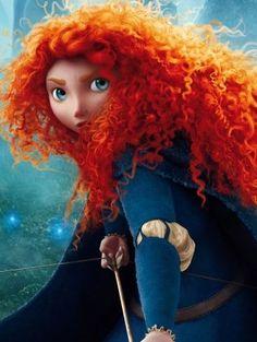 Merida - A primeira princesa da Disney com cabelos cacheados, volumosos e indomáveis, ela demora para se entender com eles.