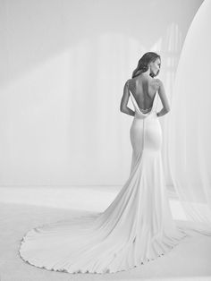Wedding dress with gemstone appliqués - Rama - Pronovias