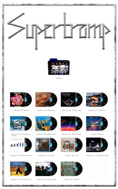 Album Art Icons: Supertramp Discography Folders (ICO & PNG)
