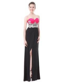 Sexy Strapless Padded Empire Line Long Dress