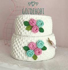 Crochet Bowl, Crochet Basket Pattern, Crochet Flower Patterns, Crochet Yarn, Crochet Flowers, 3d Cuts, Christmas Crochet Patterns, T Shirt Yarn, Learn To Crochet