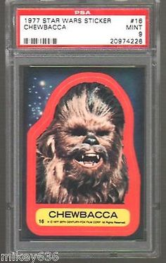 1977 Star Wars Sticker #16 Chewbacca PSA 9 Mint for USD14.79 #Collectibles #Trading #Cards #Chewbacca  Like the 1977 Star Wars Sticker #16 Chewbacca PSA 9 Mint? Get it at USD14.79!