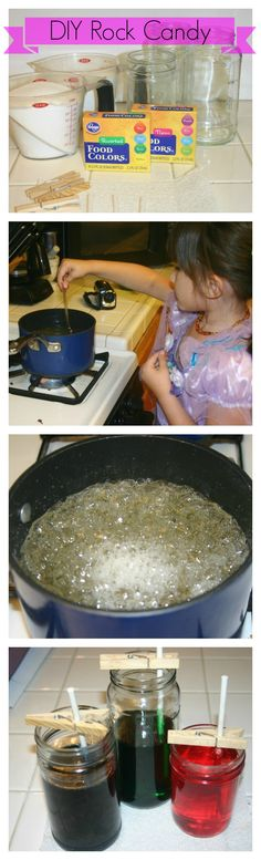 DIY Rock Candy | Fun with the kids #rockcandy #scienceproject