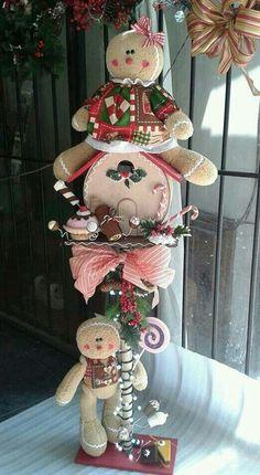 *** Gingerbread Crafts, Gingerbread Decorations, Christmas Gingerbread, Christmas Candy, Xmas Decorations, All Things Christmas, Christmas Time, Christmas Crafts, Gingerbread Men