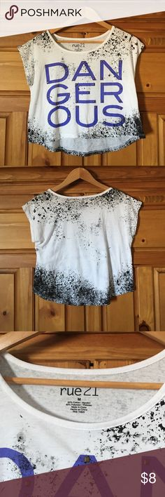 OVER THE SHOULDER cute crop top SUPER TRENDY crop topperfect for summer  great with jeans shorts or long jeans FIRM ON THE PRICE! ❤️ Thanks for looking  Rue 21 Tops Crop Tops
