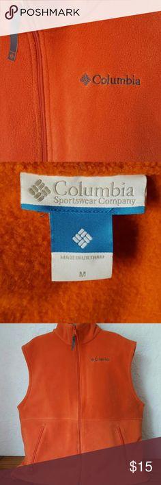 Like New Columbia Fleece Vest sz M Soft Fleece orange in color sz m Columbia Jackets & Coats Vests