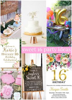Sweet 16 Party Ideas Sweet 16 Parties Sweet Sixteen with regard to Amazing Joined Birthday Party Ideas - Party Supplies Ideas 16th Birthday Ideas For Girls, Birthday Cake Girls Teenager, Birthday Cakes For Teens, Sweet 16 Birthday, Girl Birthday, Birthday Parties, Cake Birthday, Birthday Wishes, Birthday Invitations